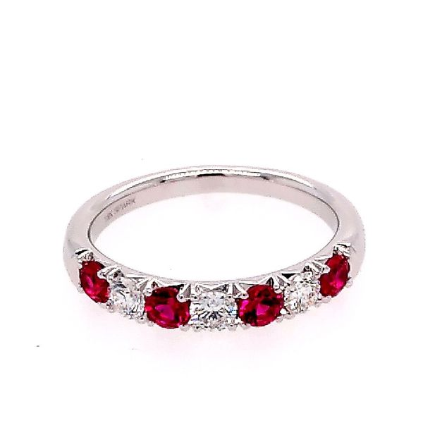 Ruby and Diamond Alternating Band 0.30 Carat Diamond and 0.48 Carat Ruby Saxon's Fine Jewelers Bend, OR