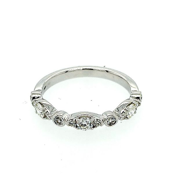 Hearts on Fire 18 Karat White Gold Bezel Regal Diamond Band 0.45ctw Saxons Fine Jewelers Bend, OR