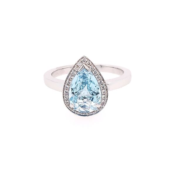 Blue Topaz and Diamond Ring Saxon's Fine Jewelers Bend, OR