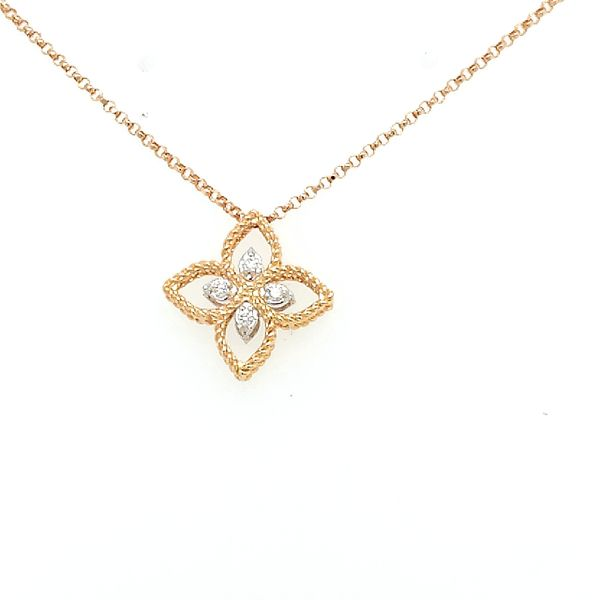 Roberto Coin Princess Flower Diamond Necklace Saxon's Fine Jewelers Bend, OR