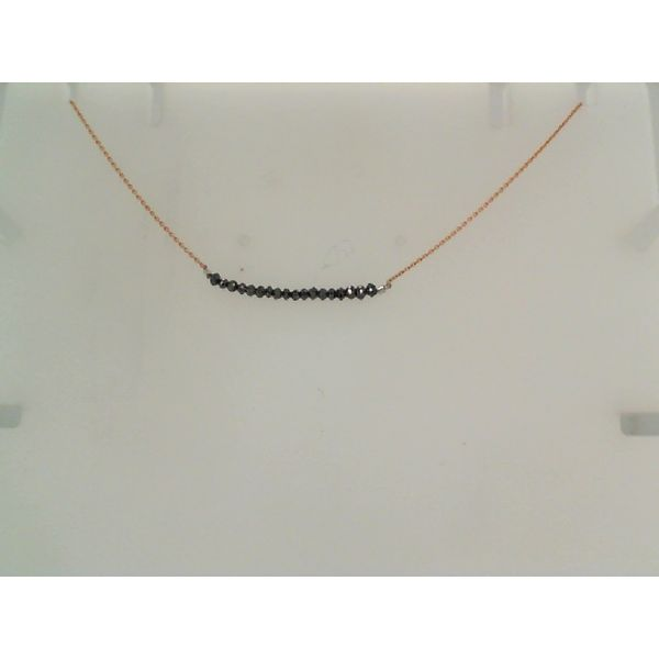Drilled Black Diamond Bar Necklace Saxon's Fine Jewelers Bend, OR