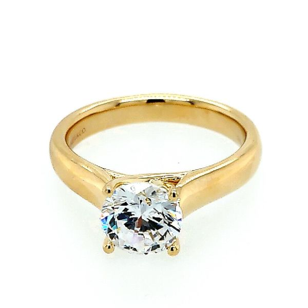 Gabriel & Co. 14K Yellow Gold Round Diamond Engagement Semi Mount Ring Saxon's Fine Jewelers Bend, OR