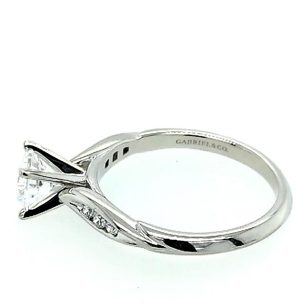 Gabriel & Co.14K White Gold Round Diamond Engagement Semi Mount Ring (0.09ct) Image 2 Saxon's Fine Jewelers Bend, OR