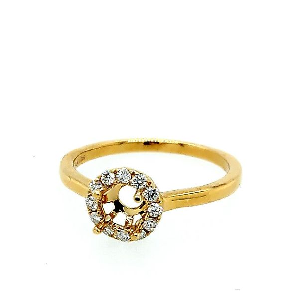 Saxons 14 Karat Yellow Gold Diamond Halo Semi-Mount Ring Saxons Fine Jewelers Bend, OR