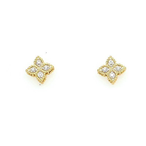 Roberto Coin Diamond Princess Flower Earrings Saxons Fine Jewelers Bend, OR