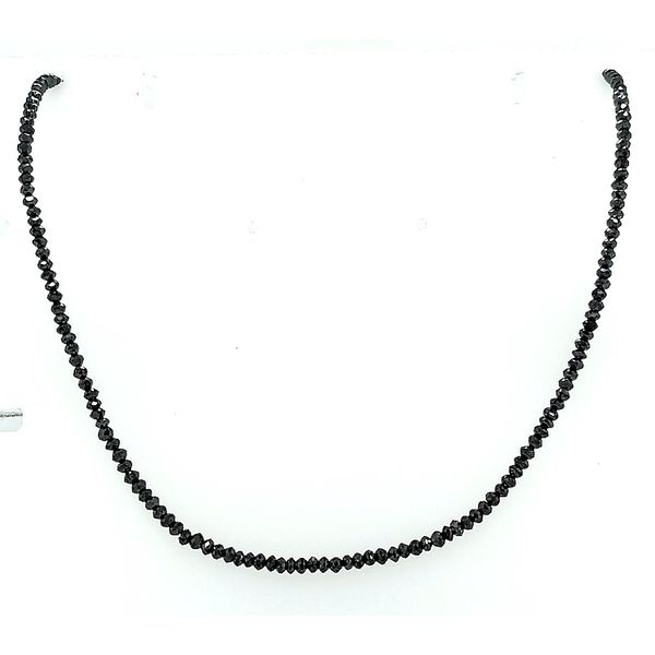 Saxons 14K White Gold Black Diamond Necklace Saxon's Fine Jewelers Bend, OR