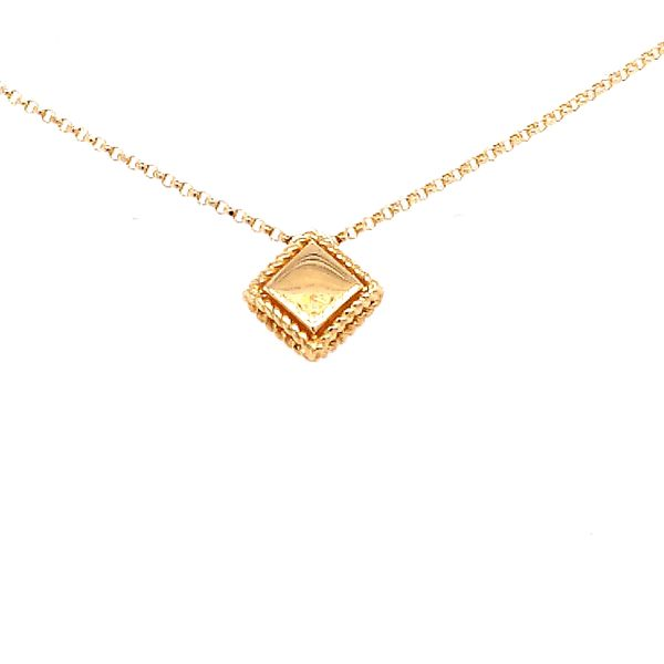 Roberto Coin 18 Karat Yellow Gold Diamond Palazzo Ducale Single Pendant Image 2 Saxon's Fine Jewelers Bend, OR
