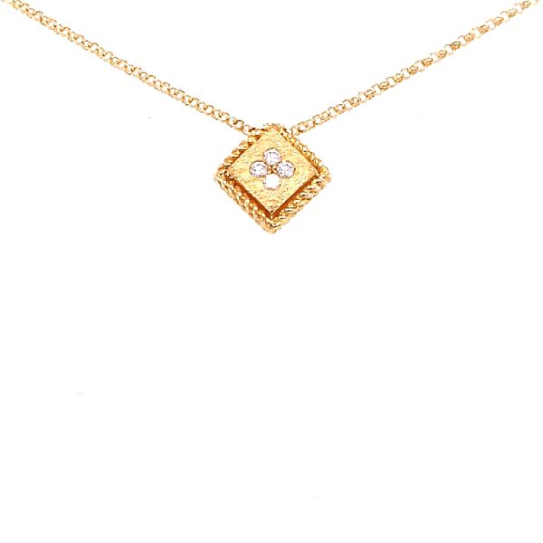Roberto Coin 18 Karat Yellow Gold Diamond Palazzo Ducale Single Pendant Saxon's Fine Jewelers Bend, OR