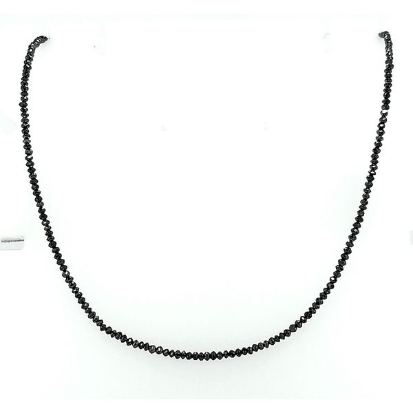 Saxons 14K White Gold Black Diamond Treated Strand Necklace 13.80ctw Saxon's Fine Jewelers Bend, OR