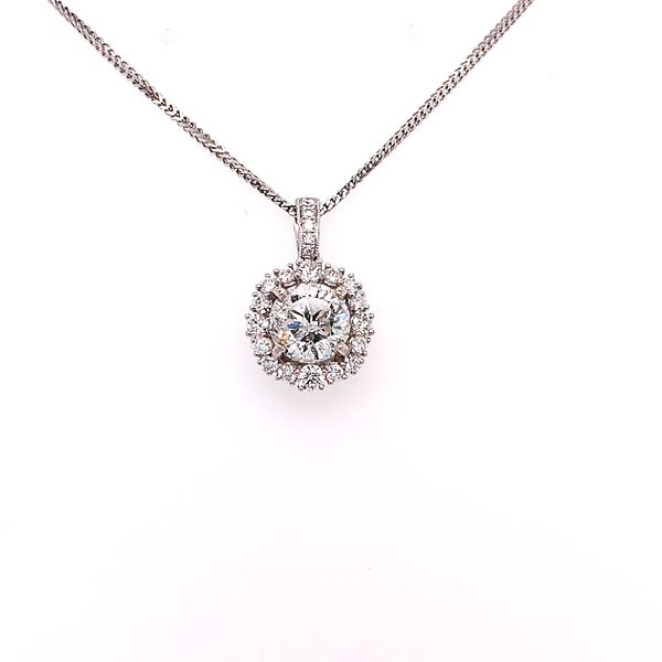 Saxons 18 Karat White Gold Diamond Pendant Necklace Saxons Fine Jewelers Bend, OR