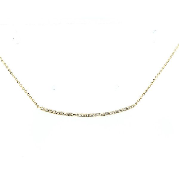 Saxons Diamond Curved Bar Pendant Saxon's Fine Jewelers Bend, OR