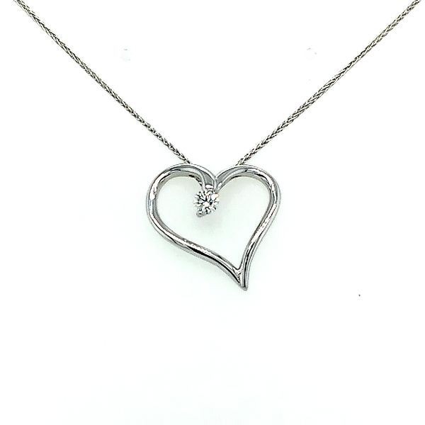 Hearts on Fire Diamond Heart Shaped Pendant 0.13ctw Saxons Fine Jewelers Bend, OR