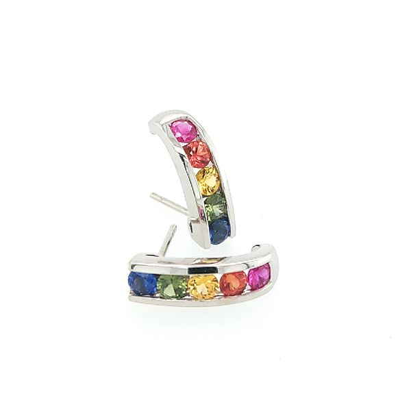 Rainbow Sapphire Earrings Saxons Fine Jewelers Bend, OR