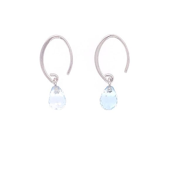 Simple Sweep Blue Topaz Earrings Saxons Fine Jewelers Bend, OR