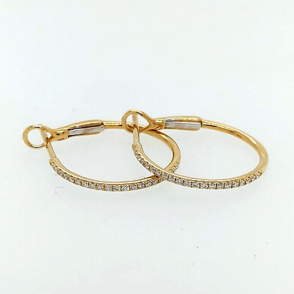 Saxons 14 Karat Yellow Gold Diamond Hoops 0.16ctw Saxons Fine Jewelers Bend, OR