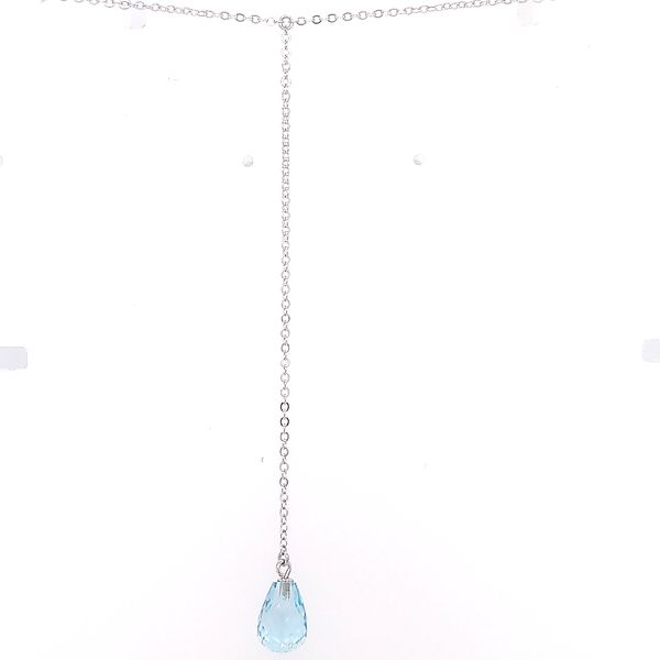Silver Blue Topaz Drop Necklace Saxon's Fine Jewelers Bend, OR