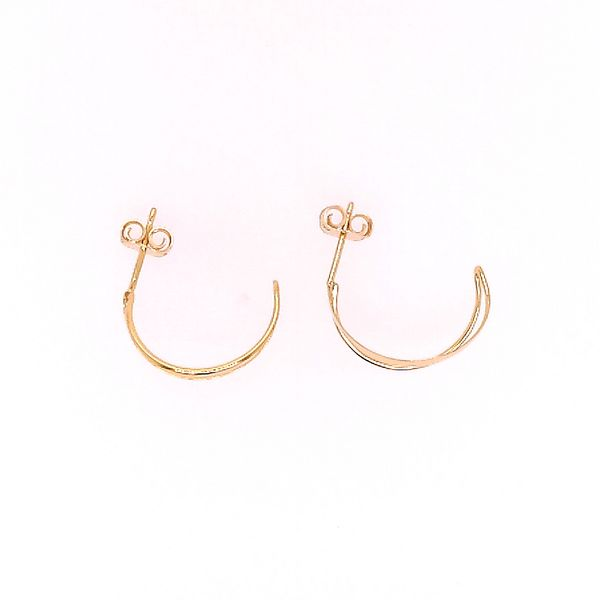 Open Half Hoop Earrings Saxon's Fine Jewelers Bend, OR