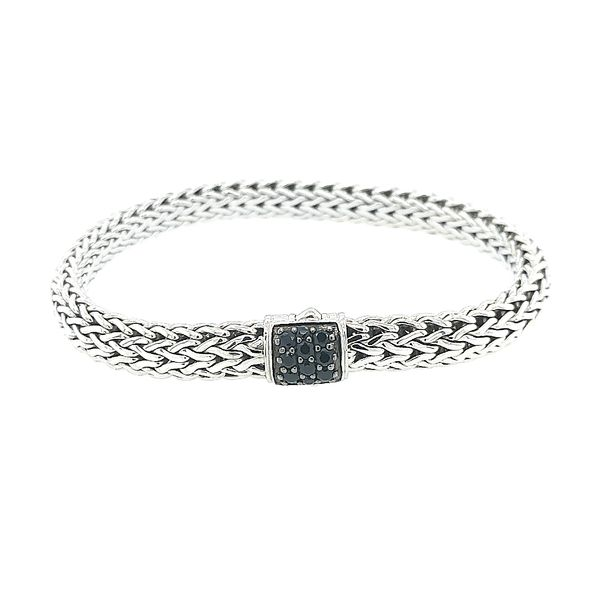 John Hardy Silver Classic Chain Black Sapphire Small Bracelet Saxons Fine Jewelers Bend, OR