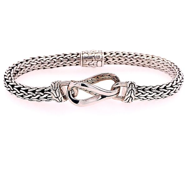 John Hardy SIlver Asli Classic Chain Link Small Chain Bracelet Size Medium Saxon's Fine Jewelers Bend, OR