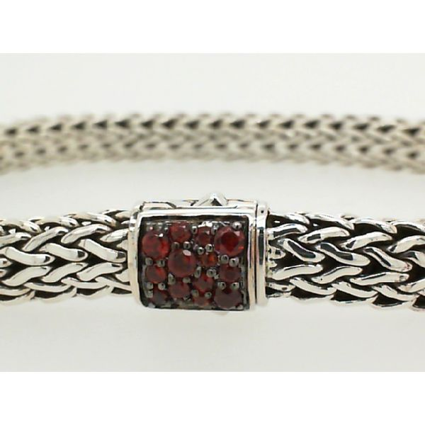 John Hardy Sterling Silver Black Sapphire/ Garnet Classic Chain Small Reversible Bracelet Image 2 Saxon's Fine Jewelers Bend, OR