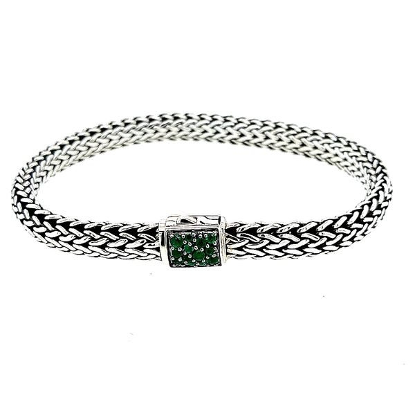John Hardy Sterling Silver Black Sapphire/ Emerald Classic Chain Small Reversible Saxon's Fine Jewelers Bend, OR