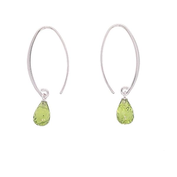 Simple Sweep Briolette Peridot Earrings Saxons Fine Jewelers Bend, OR