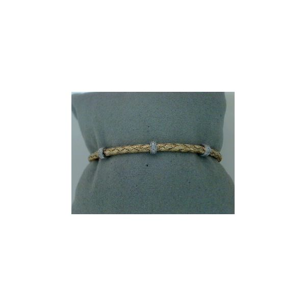 Two Tone Braided Weave Bangle Saxon's Fine Jewelers Bend, OR