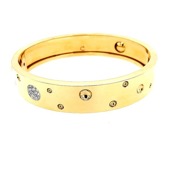 Roberto Coin 18 Karat Yellow Gold Pois Moi Luna Bangle Saxon's Fine Jewelers Bend, OR