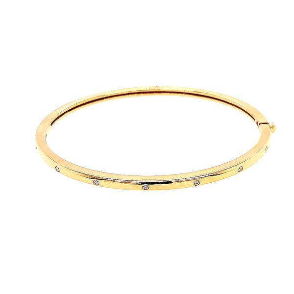 Roberto Coin Classica Bangle with Diamonds Saxons Fine Jewelers Bend, OR