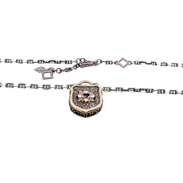 Armenta 14 Karat Gold Silver Maltese Shield Necklace Image 2 Saxon's Fine Jewelers Bend, OR