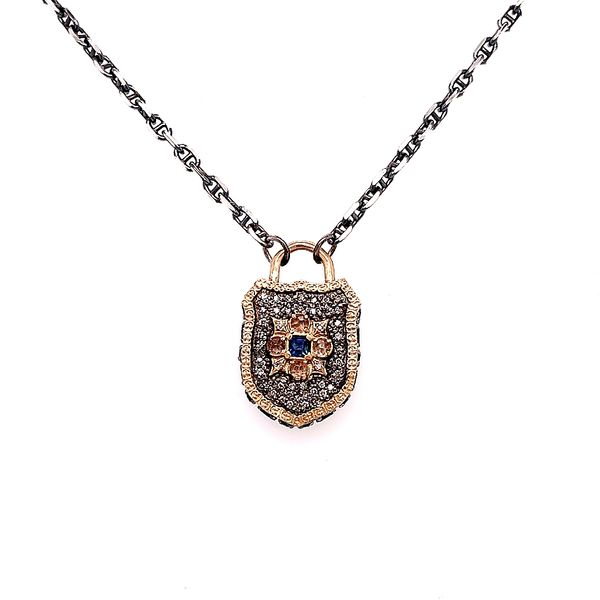 Armenta 14 Karat Gold Silver Maltese Shield Necklace Saxon's Fine Jewelers Bend, OR