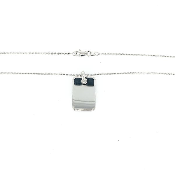Silver Dog Tag Pendant Saxons Fine Jewelers Bend, OR