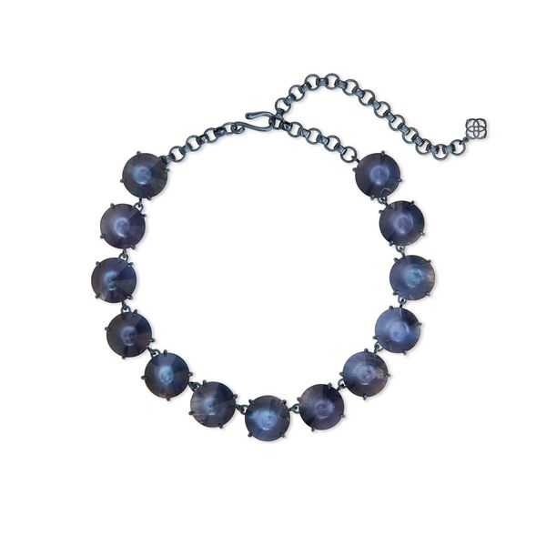 Navy Gunmetal Statement Necklace Seita Jewelers Tarentum, PA