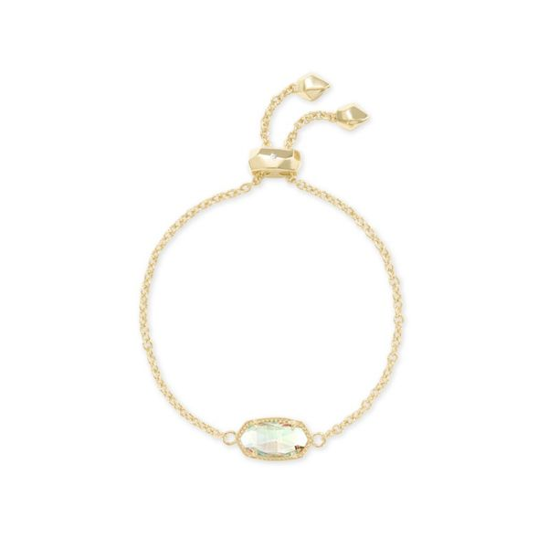 Elaina -  Gold Plated Adjustable Chain Bracelet In Dichroic Glass Seita Jewelers Tarentum, PA