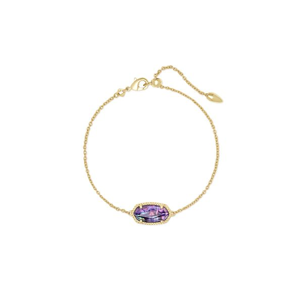 Gold Plated Single Slide Bracelet In Lilac Abalone Seita Jewelers Tarentum, PA