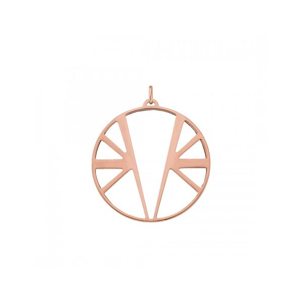 Rose Gold Finish 45mm Round Pendant Seita Jewelers Tarentum, PA