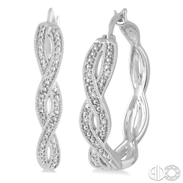 Sterling Silver Diamond Hoop Earrings Seita Jewelers Tarentum, PA