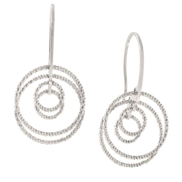 Sterling Silver Circle Game Earrings Seita Jewelers Tarentum, PA