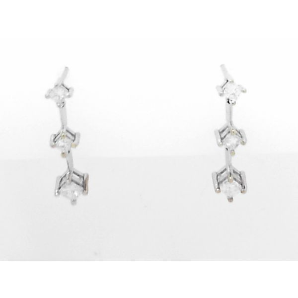 14K White Gold Diamond Earrings Seita Jewelers Tarentum, PA