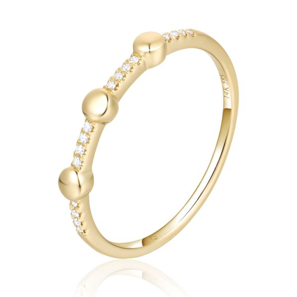 Diamond & Gold Ball Band Simones Jewelry, LLC Shrewsbury, NJ