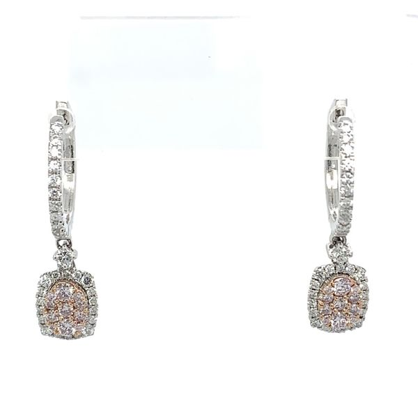 Pink and White Diamond Earrings Simones Jewelry, LLC Shrewsbury, NJ