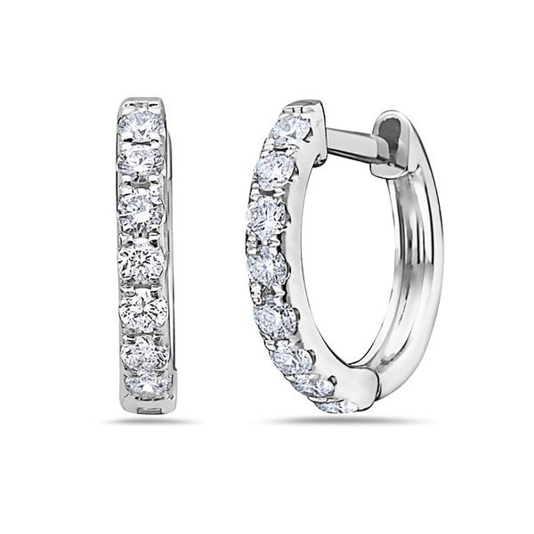 Diamond Huggie Earrings Simones Jewelry, LLC Shrewsbury, NJ