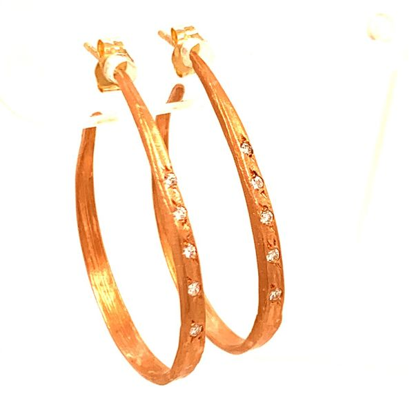 Rose Gold Diamond Hoops Simones Jewelry, LLC Shrewsbury, NJ