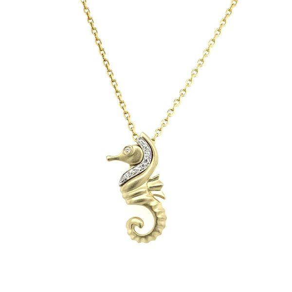 14KY Diamond Sea Horse Pendant Simones Jewelry, LLC Shrewsbury, NJ