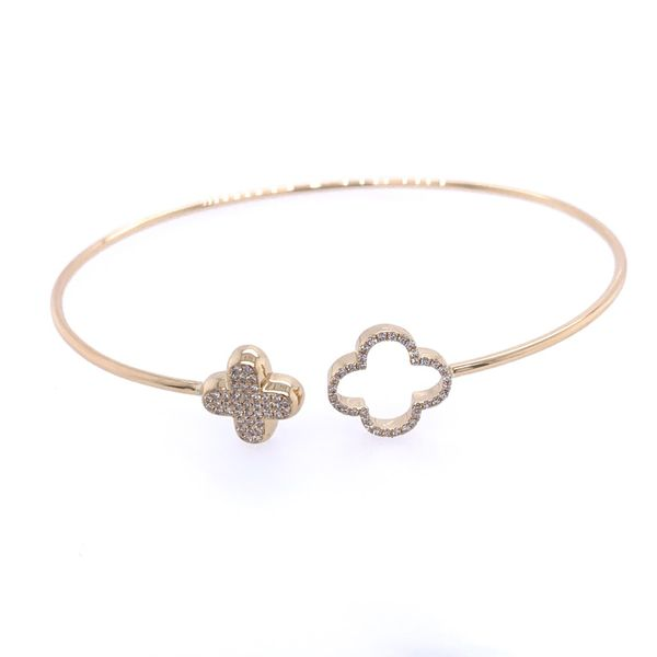 Gold Diamond Clover Bangle Simones Jewelry, LLC Shrewsbury, NJ
