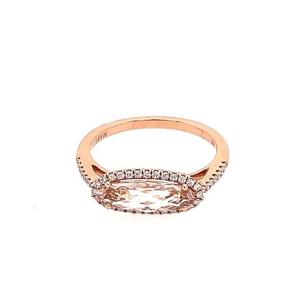 Morganite & Diamond Ring Simones Jewelry, LLC Shrewsbury, NJ