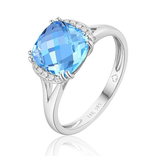 Blue Topaz Ring Simones Jewelry, LLC Shrewsbury, NJ