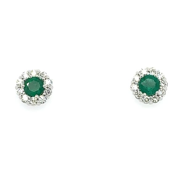 Diamond and Emerald Studs Simones Jewelry, LLC Shrewsbury, NJ