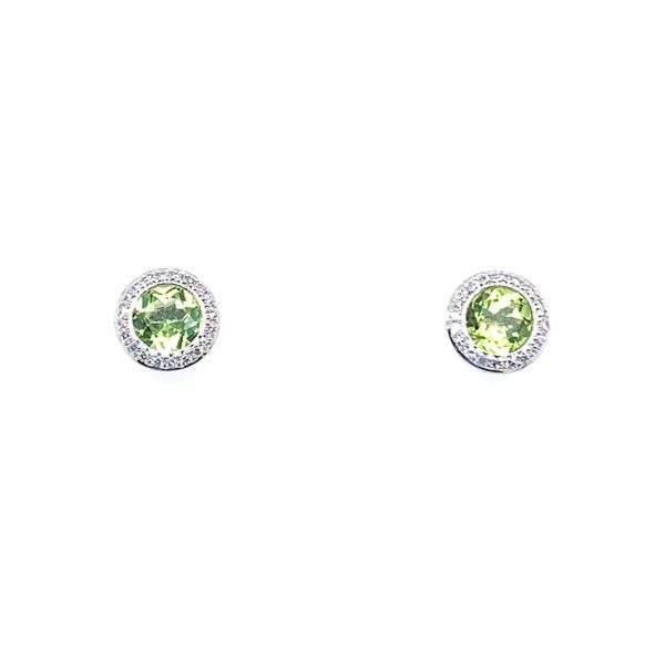 Peridot & Diamond Earrings Simones Jewelry, LLC Shrewsbury, NJ