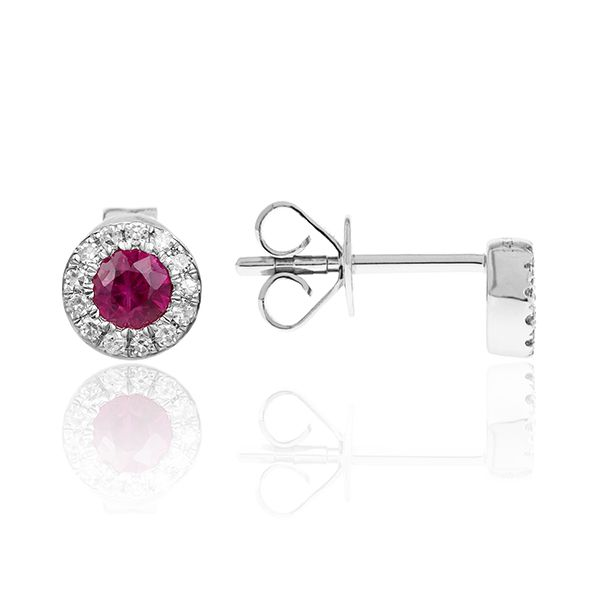 Diamond & Ruby Earrings Simones Jewelry, LLC Shrewsbury, NJ